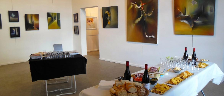 Villedary artiste peinture abstraite Uzès Provence