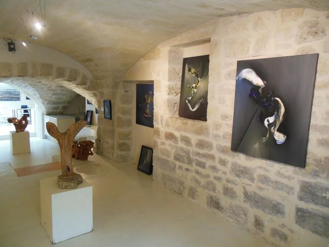 Villedary peinture abstraite Uzes Provence